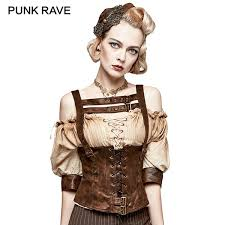 2019 Steampunk Sexy <b>Backless</b> Pu Leather Waistcoat Vest Fashion ...