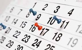 Resultado de imagen de calendario de la jornada