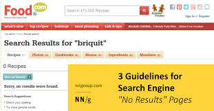 3 Guidelines For Search Engine No Results Pages