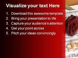 Wedding Powerpoint Template Mesmerizing Red Rose Wedding PowerPoint Template 44