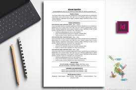 Resume Template Traditional Indesign Templates Creative Envato John