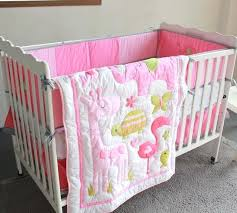 giraffe crib set me pink girl bedding d embroidery baby s on sets