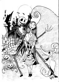 Nightmare Before Christmas Coloring Page Coloring Home
