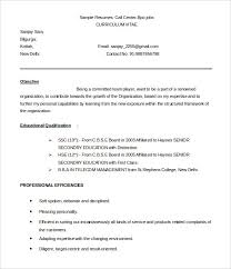 Resume Format For Bpo Jobs