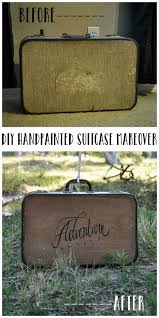 DIY Hand Painted Suitcase Makeover // An adorable way to revamp any luggage  you have