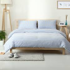 blue and white striped sheets. Modren White 4pcs 100 Cotton Jersey Knitt Sheets Light Blue And White Stripe Duvet  Cover Solid Intended Blue And White Striped Sheets L