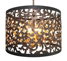 dark gold cut out acanthus leaf six light chandelier pertaining to brilliant residence cut out chandelier decor