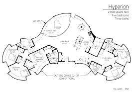 117 best monolithic dome house plans images on pinterest dome 25 X 40 House Plans East Facing Site 5 beroom dome home floor plans