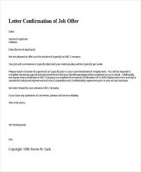 Confirmation Of Employment Letter Template Simple Employee