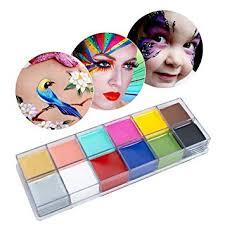 face body paint oil fencia face paint kit 12 colors professional drama face body paint