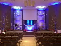 church lighting ideas. woven with snow church stage design ideas lighting