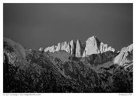 whitney black white. Black And White Picture/Photo: Mt Whitney, Sunrise. Sequoia National Park Whitney L