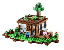 Real Life Lego House Amazoncom Lego Minecraft 21115 The First Night Toys Games