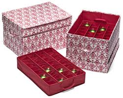 Holiday Ornament Storage Container With Safely Christmas Regard To Box Dividers Designs 1 - Odorokikarakon.info
