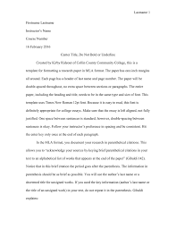 College Format Essay Templates Franklinfire Co
