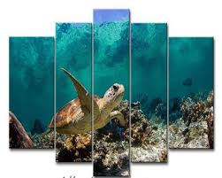 5plane painting calligraphy wall art picture underwater turtle prints on canvas animal poster modern paintings quadro decoracion in painting calligraphy  on turtle wall art painting with 5plane painting calligraphy wall art picture underwater turtle
