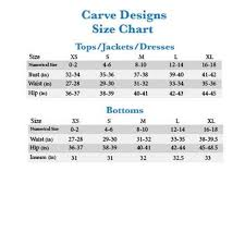 Carve Designs Catalina Top Precise Carve Designs Size Chart