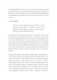 national cinema vs hollywood industry essay 2 3 art cinema
