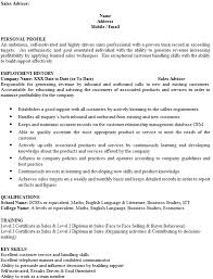 Cv Sales Assistant Sales Advisor Cv Example Cover Letters And Cv Examples