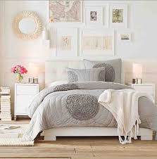 Light and bright bedroom ideas. Grey, nutral, white, feminine ...