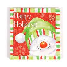 Holidays Snowman Happy Holidays Printed Snowman Luncheon Napkins