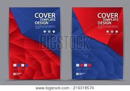 Advertisement Brochure New Red Blue Cover Vector Photo Free Trial Bigstock