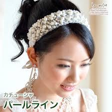 ヘッドドレス 髪飾り ロンググローブ カチューシャ パールライン パール