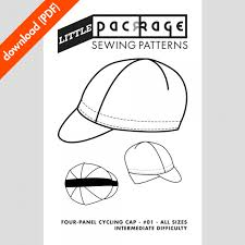 Downloadable Sewing Patterns Fascinating 48Panel Cycling Cap PDF Sewing Pattern Little Package