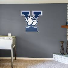 yale bulldogs logo giant officially licensed removable wall decal fathead wall decal