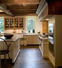 Rustic Farmhouse Decorating With Cream Kitchen Cabinets Kitchen