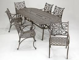 Ideas Cast Iron Patio Furniture For Wrought Iron Patio Set Outdoor