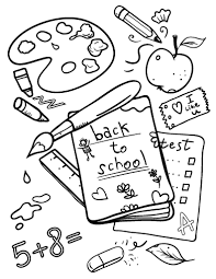 Small Picture Free Printable Back To School Coloring Pages chuckbuttcom