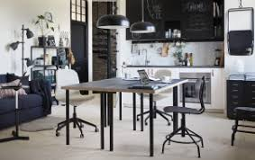 ikea office inspiration. A Black And White Kitchen With Two Tables Back-to-back In The Centre Ikea Office Inspiration N