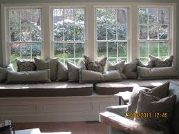 Window Seat Living Room Heavenly Living Room Decorating Ideas With Grey Cotton Homemade