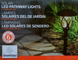 Alpan Solar Light Batteries Smartyard By Alpan 6 Pack Solar Led Pathway Lights