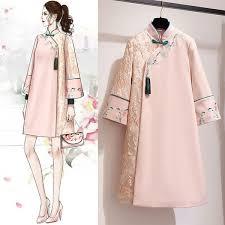 2019 <b>Improvement</b> Woollen Long Robe <b>Cheongsam</b> Lady China ...