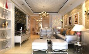 Luxury Living Room Design Living Room False Ceiling Designs With Colorful Pop Circles