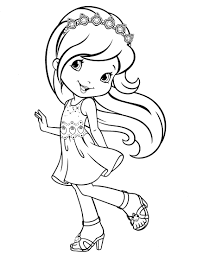 Small Picture Strawberry Shortcake Coloring Pages To Print ALLMADECINE