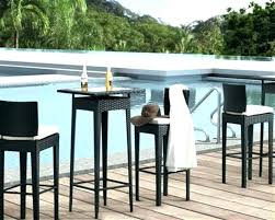 bistro set outdoor bar height pub table counter round cover with swivel chairs
