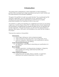 cover letter example for portfolio professional letter of introduction 4 best photos of writing