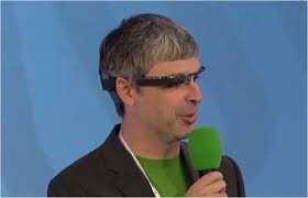 Salaris CEO Google Larry Page wederom 1 dollar. 15 april 2014, 12:03 - larry_page_google_glasses