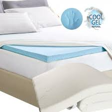 memory foam bed topper. COOL GEL Memory Foam Mattress Topper With Bamboo Fabric Cover (8cm) Bed