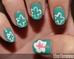 Hibiscus Nails Pinterest Hibiscus, hibiscus flower nail art - Nails