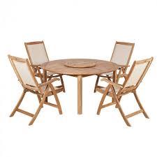royalcraft virginia teak round table lazy susan 4 st tropez recliners