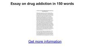 essay on drug addiction in words google docs