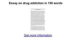 essay on drug addiction in words google docs
