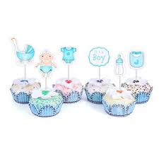 Amazoncom 48 Cupcake Toppers For Baby Shower Its A Boy Kids Party