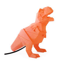 disaster designs geometric led t rex lamp orange