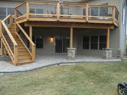 deck or paver patio outdoor how to build a paver patio