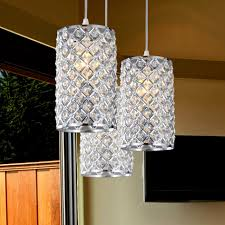 Nickel Pendant Lighting Kitchen Kitchen Lighting Brushed Nickel Multi Pendant Lamps With Clear
